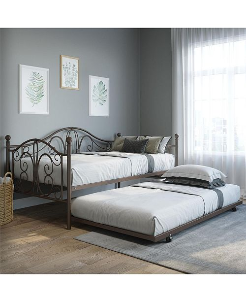 EveryRoom Bradford Metal Daybed with Trundle