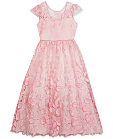 Rare Editions Little Girls Floral Embroidered Maxi Dress