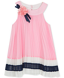 Rare Editions Little Girls Pleated Shift Dress