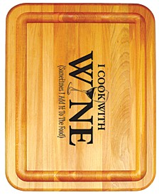 Cook With Wine Branded Board