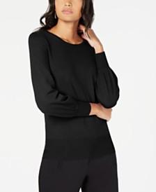 Alfani Petite Bishop-Sleeve Sweater, Created for Macy's