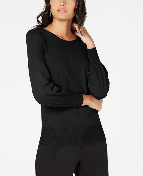 Alfani Bishop Sleeve Sweater, Created for Macy's