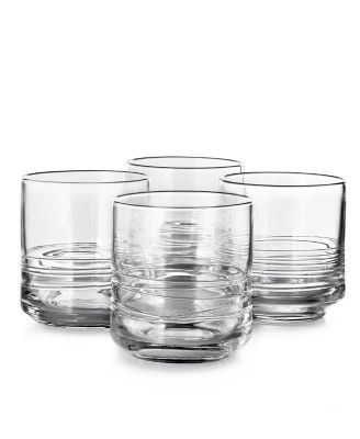 CLOSEOUT! Set of 4 Small Glasses with Cording, Created for Macy's