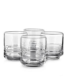Set of 4 Small Glasses with Cording, Created for Macy's