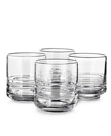 Hotel Collection Set of 4 Small Glasses with Cording, Created for Macy's