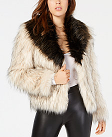 GUESS Rex Two-Tone Faux-Fur Jacket