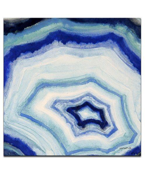"""Ready2HangArt 'Ocean Stone II' Abstract Canvas Wall Art, 20x20"""""""