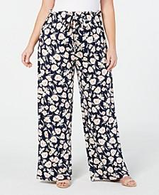 Plus Size Paperbag-Waist Soft Pants