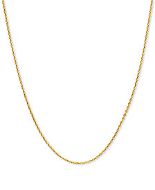 """Rope 18"""" Chain Necklace in 10k Gold"""