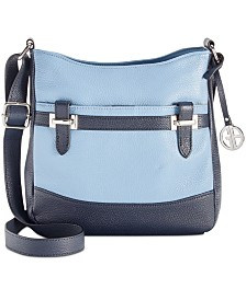 Giani Bernini Pebble Leather Crossbody, Created for Macy's