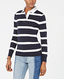 Tommy Hilfiger Cotton Rugby Striped Shirt, Created for Macy's