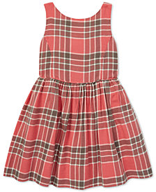 Polo Ralph Lauren Toddler Girls Plaid Cotton Fit & Flare Dress