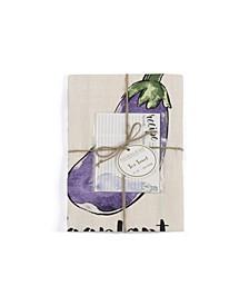 Eggplant Tea Towel