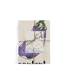 Shiraleah Eggplant Tea Towel