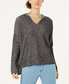 Eileen Fisher Organic Linen Cotton Hooded Sweater