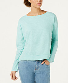 Eileen Fisher Boat-Neck Boxy Knit Top, Regular & Petite, Created for Macy's