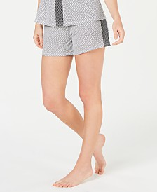 Alfani Ultra Soft Side-Stripe Pajama Shorts, Created for Macy's