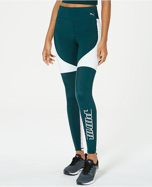 9fed9ae57360e0 Puma Cosmic dryCELL Colorblocked High-Waist Leggings & Reviews ...