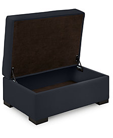 "Astra 36"" Fabric Chair Bed Storage Ottoman - Custom Colors, Created for Macy's"