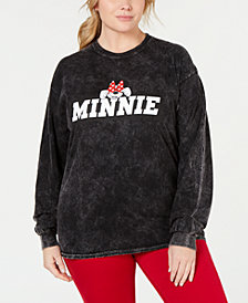 Disney By Love Tribe Plus Size Shy Minnie Graphic Sweatshirt