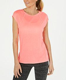 Calvin Klein Performance Cap-Sleeve Crisscross Back T-Shirt