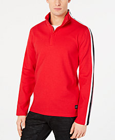Calvin Klein Men's Striped Ribbed Pullover
