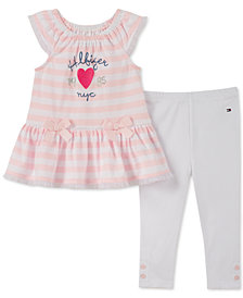 Tommy Hilfiger Baby Girls 2-Pc. Striped Tunic & Leggings Set