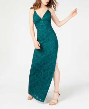 b377a485d8be EMERALD SUNDAE | Emerald Sundae Juniors' Glitter Lace A-Line Dress | Goxip