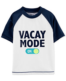 Carter's Little & Big Boys Vacay Mode Rash Guard