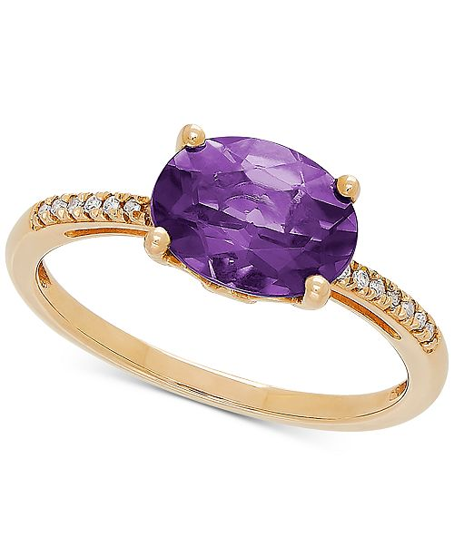Macy's Amethyst (1-5/8 ct. t.w.) & Diamond Accent Ring in 14k Gold