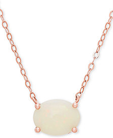 "Opal 16"" Pendant Necklace (1 ct. t.w.) in 14k Rose Gold"
