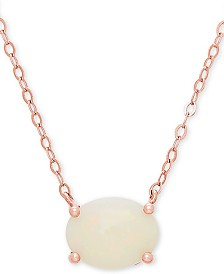 """Opal 16"""" Pendant Necklace (1 ct. t.w.) in 14k Rose Gold"""