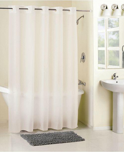 Hookless Frosty Peva Shower Curtain