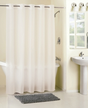 Hookless Frosty Peva Shower Curtain Bedding