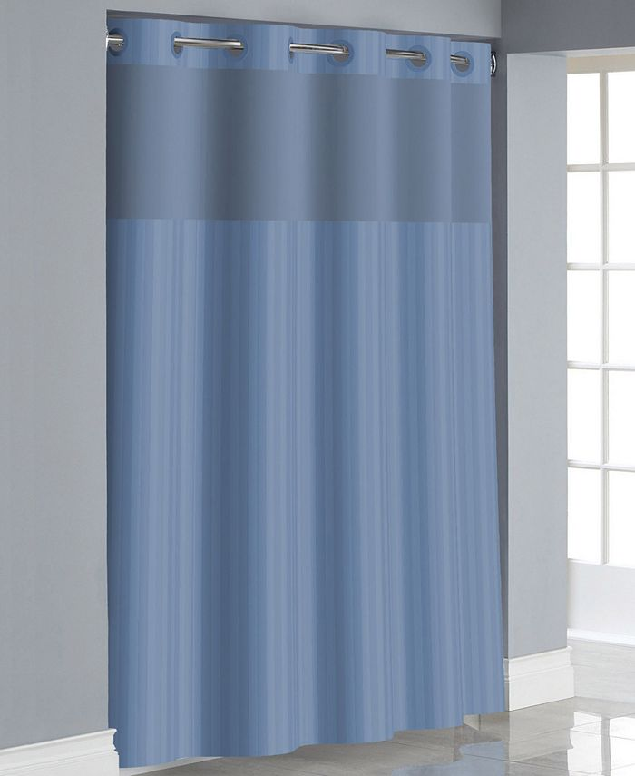 Hookless - Victorian Satin Stripe 3-in-1 Shower Curtain