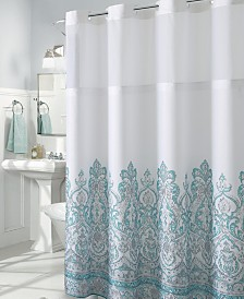 Hookless Damask Border Print 3-in-1 Shower Curtain
