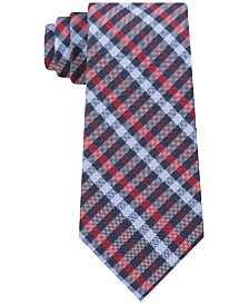 Tommy Hilfiger Men's Classic Plaid Silk Tie