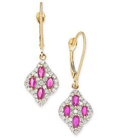 Ruby (1 ct. t.w.) & Diamond (1/2 ct. t.w.) Drop Earrings in 14k Gold