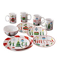 Ornaments 16 Piece Dinnerware Set