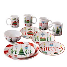 American Atelier Ornaments 16 Piece Dinnerware Set