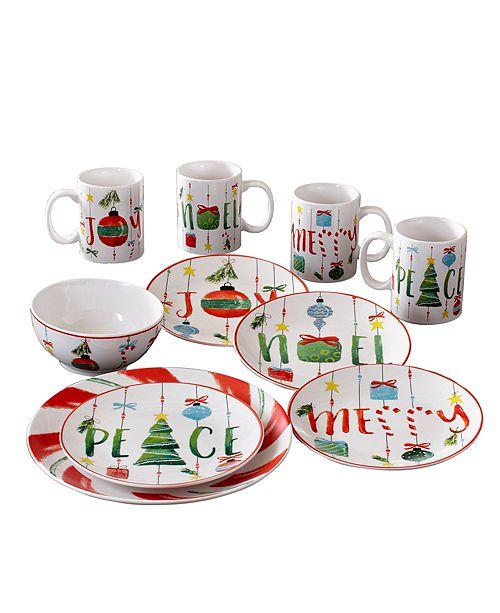 American Atelier CLOSEOUT! Ornaments 16 Piece Dinnerware Set
