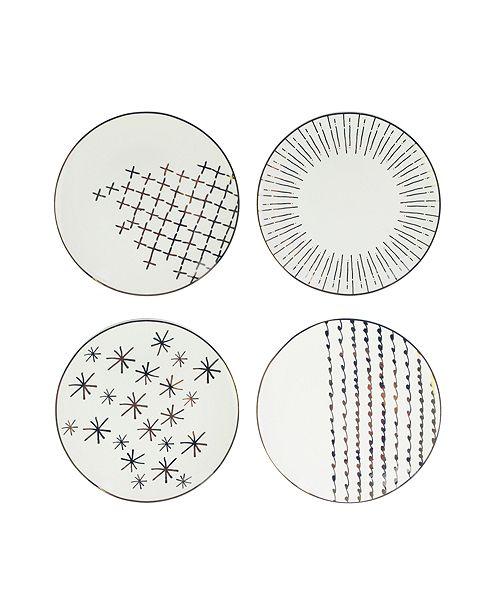 American Atelier Festive Plates, Set of 4