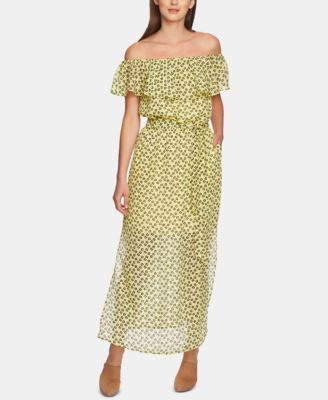 Ruffly Off-The-Shoulder Maxi Dress