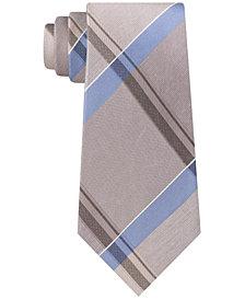 Kenneth Cole Reaction Men's Argento Slim Plaid Tie