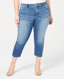I.N.C. Plus & Petite Plus Size INCFinity Cropped Skinny Jeans, Created for Macy's