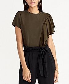 RACHEL Rachel Roy Natalia Ruffle-Side Top, Created for Macy's