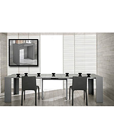 Modrest Morph - Modern Ultra-Compact Extendable Gloss Dining Table