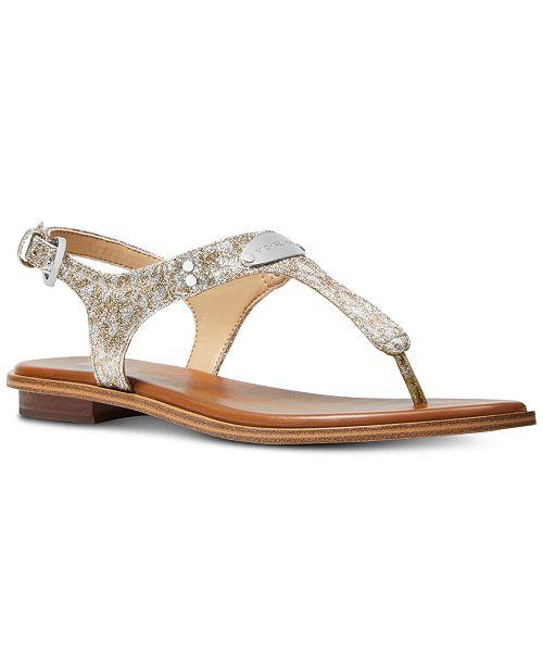 aafe8970d0d1 Michael Kors MK Plate Flat Thong Sandals   Reviews - Sandals   Flip ...