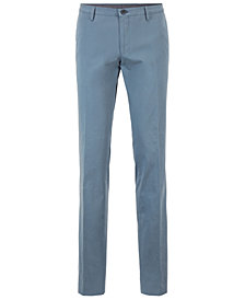 BOSS Men's Slim Fit Garment-Dyed Stretch Trousers