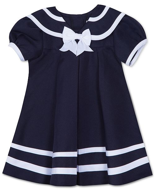 Rare Editions Baby Girls 2-Pc. Sailor Dress   Hat Set - Dresses ... 9e2e6306693